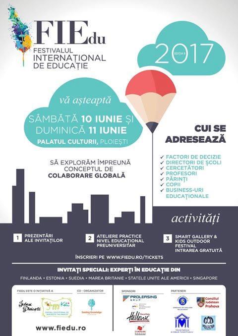 Festivalul Internaţional de Educaţie FIEdu se desfăşoară în acest weekend la Ploieşti. Vezi ce surprize au pregătit organizatorii pentru cea de-a doua ediţie!