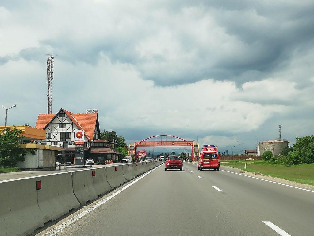Accident  cu 4 autoturisme pe DN1, la Paralela 45